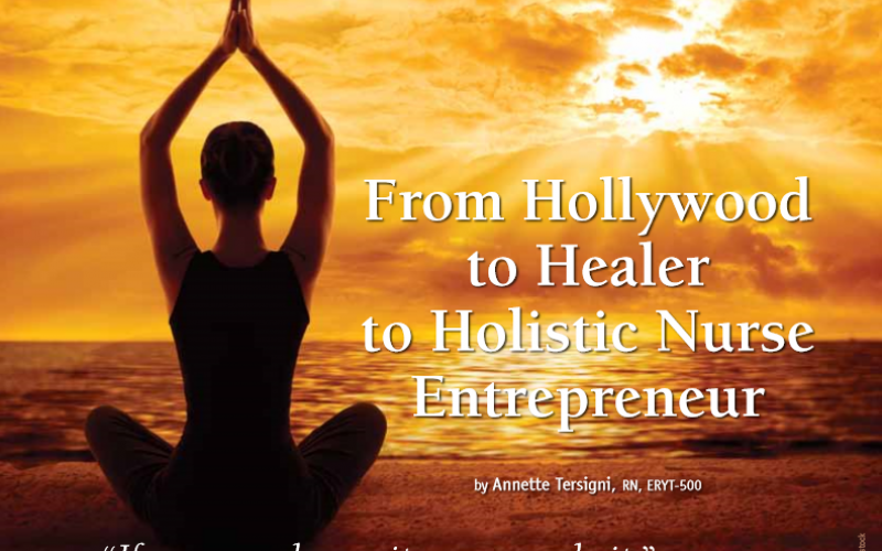 "AHNA ""Beginnings"" Magazine features the story of how YogaNursing began"