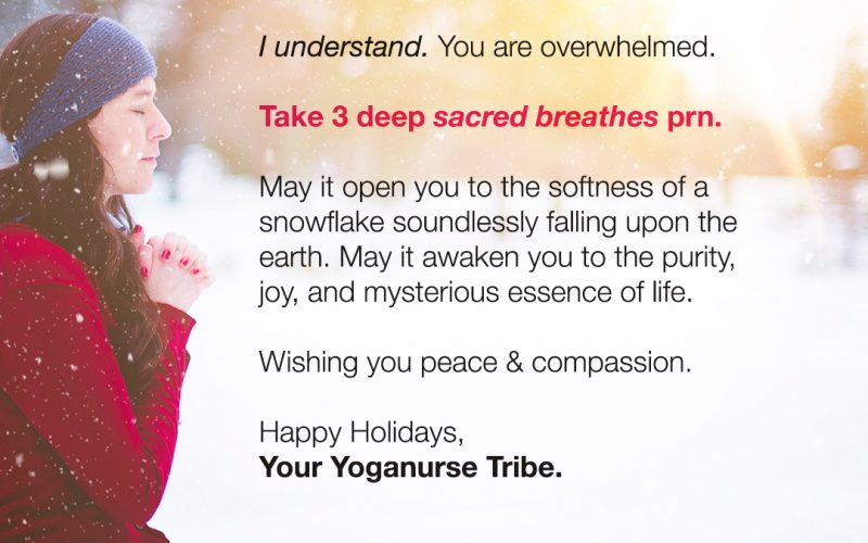How nurses can namasleigh the holidays and make peace with stress