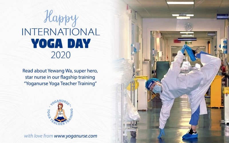 International Yoga Day with a Tibetan Nurse Super Hero